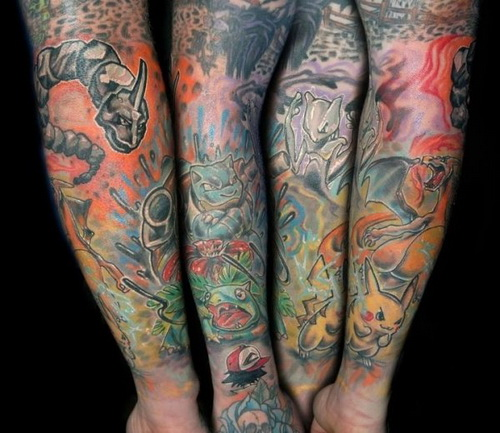 Color Arm Tattoo Designs Arm Tattoo Designs