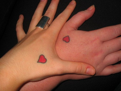 Heart Cute Tattoos for Hands