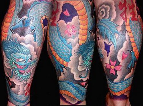 Japanese leg tattoos Leg Sleeve Tattoos Design