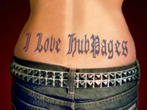 Lower Back Lettering Tattoo Lower Back Tattoo for Sexy Girls