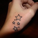 Stars Tattoo for Hand