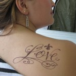 Back Shoulder Tattoo Women