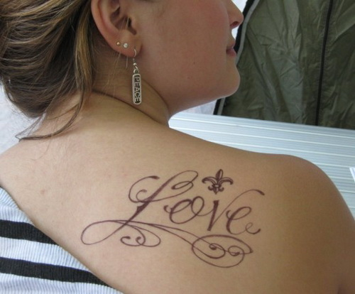 back shoulder tattoo women Shoulder Tattoos for Girls