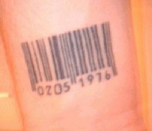 bar code tattoo wrist. Black Bedroom Furniture Sets. Home Design Ideas