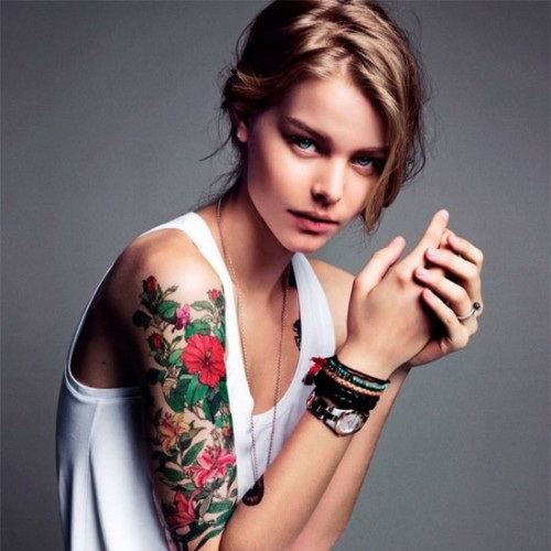best flower arm sleeve tattoo Exotic Tattoos for the Arm