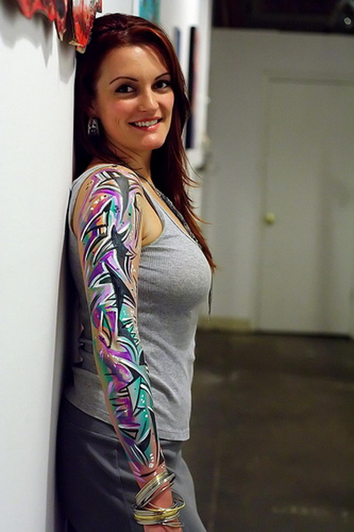 best girl sleeve tattoos Odd Girl Sleeve Tattoos