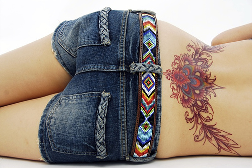 best lower back tattoo Lipstick Tattoo for Girls