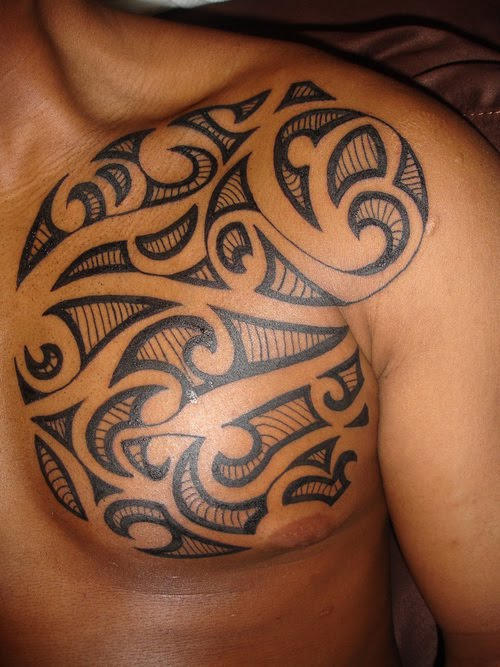 best tribal chest tattoos Tribal Chest Tattoos for Men