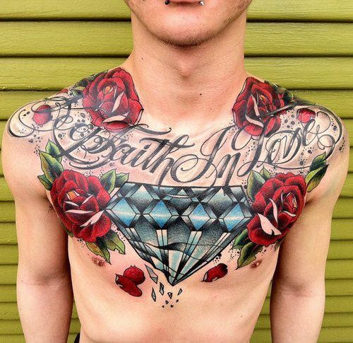 chest piece tattoos designs Chest Piece Tattoos