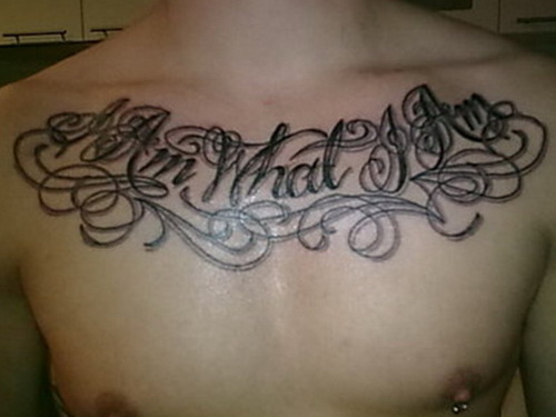 chest tattoos for men quotes Masculine Chest Tattoos for Men