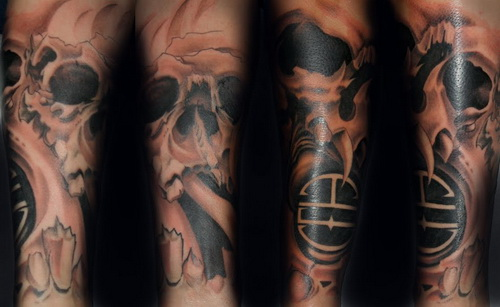 Cool Skull Sleeve Tattoos