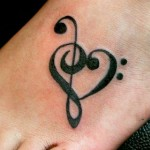 Cute Music Tattoos