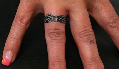 cute ring finger tattoo Ring Finger Tattoos for Couples