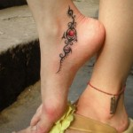 Cute Tribal Foot Tattoos