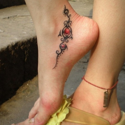 cute tribal foot tattoos Cute Foot Tattoos Ideas