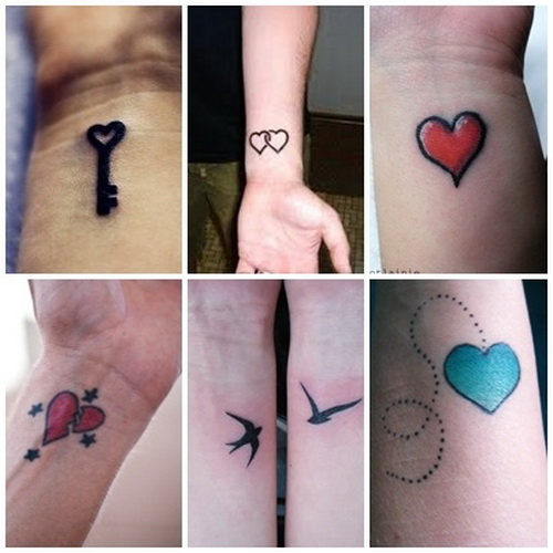 cute wrist tattoo designs Paired Cute Wrist Tattoos