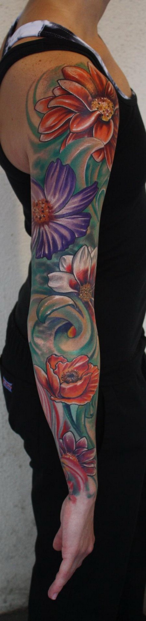 Flower Tattoo Sleeve For Men