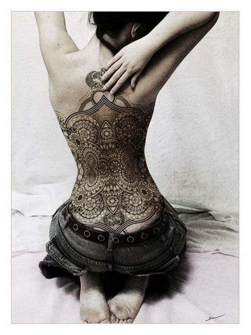 full back henna tattoos Full Back Tattoos For Men and Women