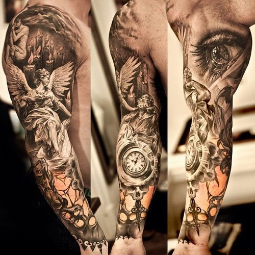 Dark Full Sleeve Tattoos Full-sleeve-tattoo-designs