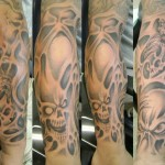 Full Sleeve Tattoos Skull