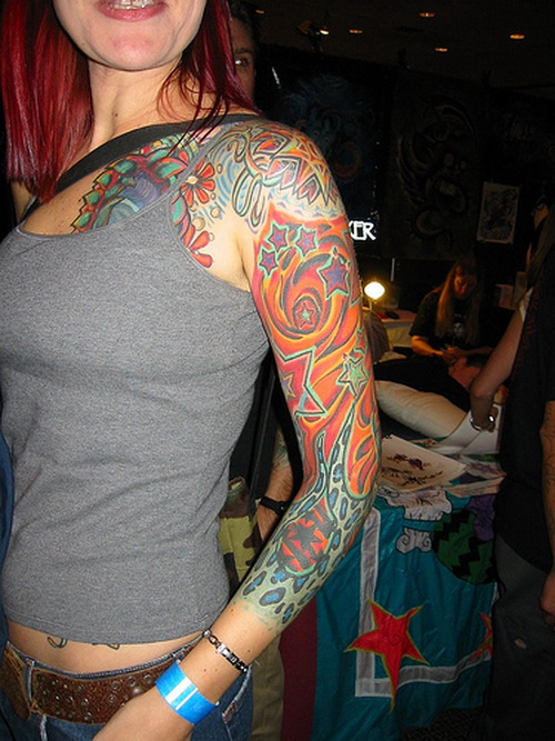 girl sleeve tattoos Odd Girl Sleeve Tattoos