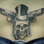 Guns Tattoos for Lower Back