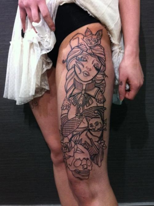 half leg sleeve tattoo Leg Sleeve Tattoos Design