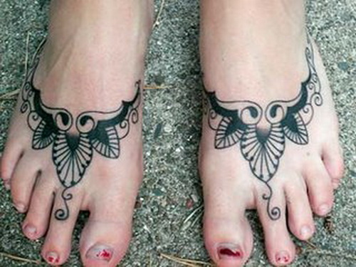 henna tattoo on foot Foot Tattoo Pain Reliever