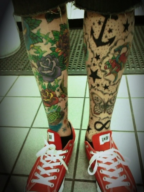 leg tattoo for men Leg Sleeve Tattoos Design