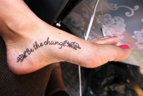 lettering foot tattoos Foot Tattoo Pain Reliever