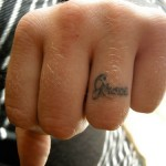 Name Ring Finger Tattoos