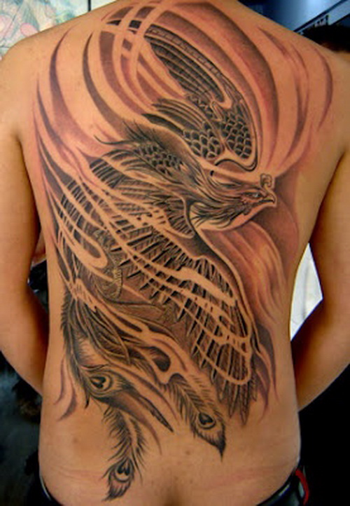 phoenix tattoo full back Full Back Tattoos For Men and Women