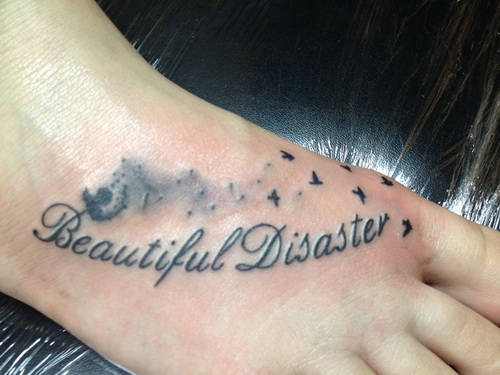 quote tattoos foot Foot Tattoo Pain Reliever