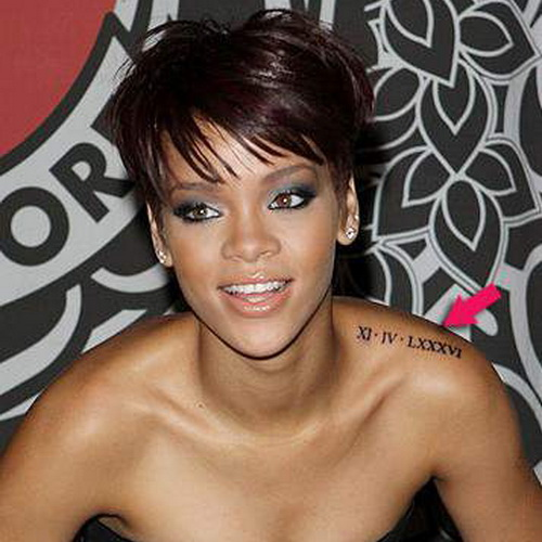 rihanna shoulder tattoo Shoulder Tattoos for Girls