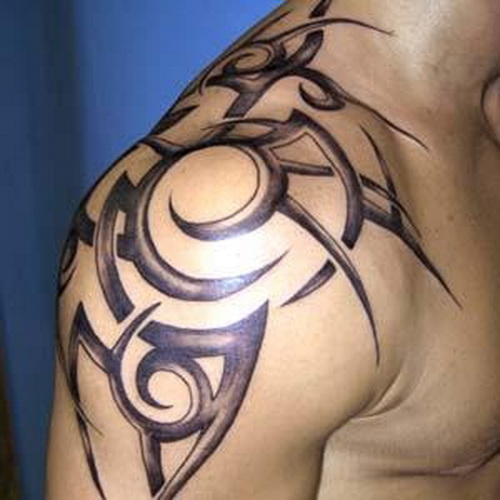 24 Tribal Shoulder Tattoo Designs Ideas: Shoulder Tattoo Designs