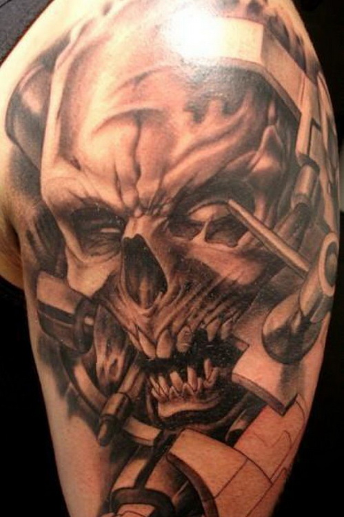 Skull Half Sleeve Tattoos Designs Galleryhipcom The