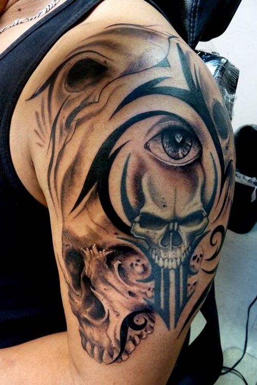 skull tribal tattoos for sleeve Tribal Sleeve Tattoos Art