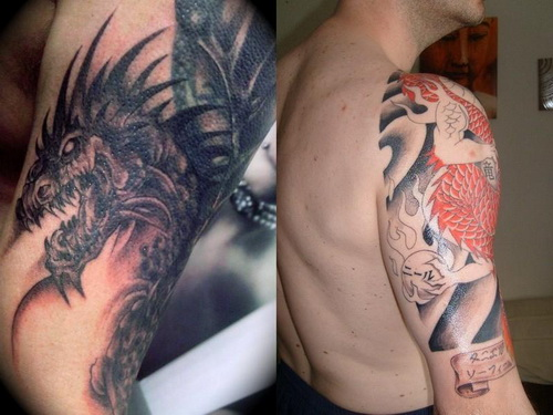 sleeve tattoos designs for men Dragon Sleeve Tattoos for Men