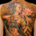 Traditional Full Back Tattoo