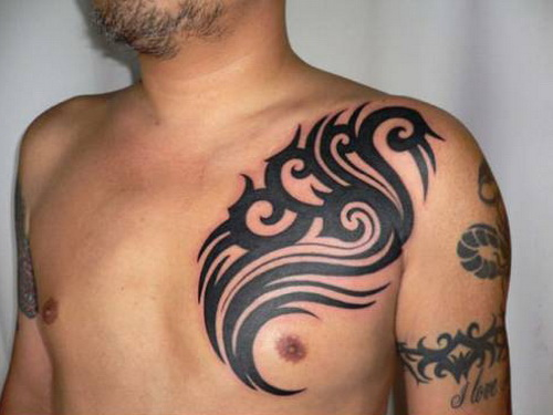 tribal chest tattoo ideas Tribal Chest Tattoos for Men