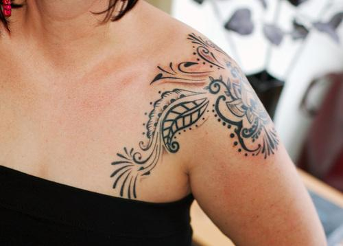 tribal shoulder tattoo designs Shoulder Tattoos for Girls