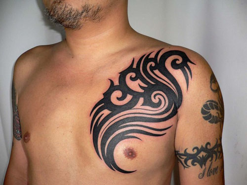 tribal tattoos ideas on chest Chest Tattoo Ideas for Men & Women