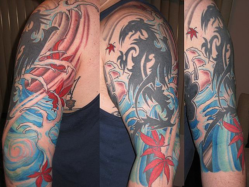 water tattoo for sleeve Tattoo Sleeve Designs for Men and Women