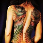 Wings Full Back Tattoos