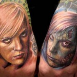 Women Face Tattoos