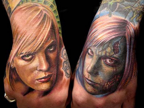 women face tattoos Hand Tattoos for Men