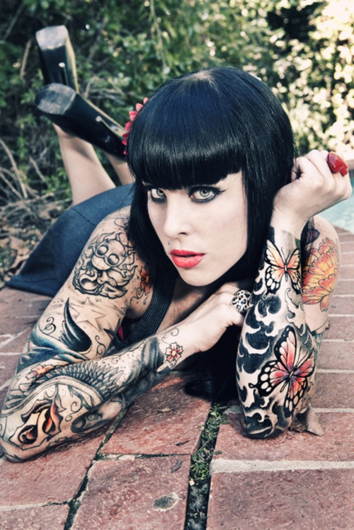 Women Sleeve Tattoo Full