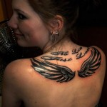 Women Upper Back Tattoos
