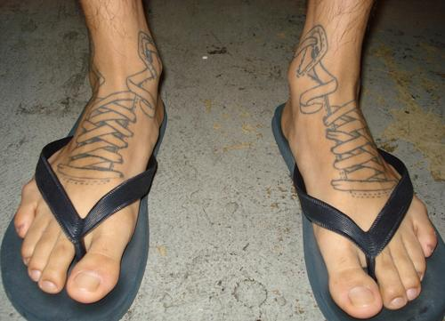 Ankle tattoo designs for men tattoo ideas mag for Ankle tattoos on men