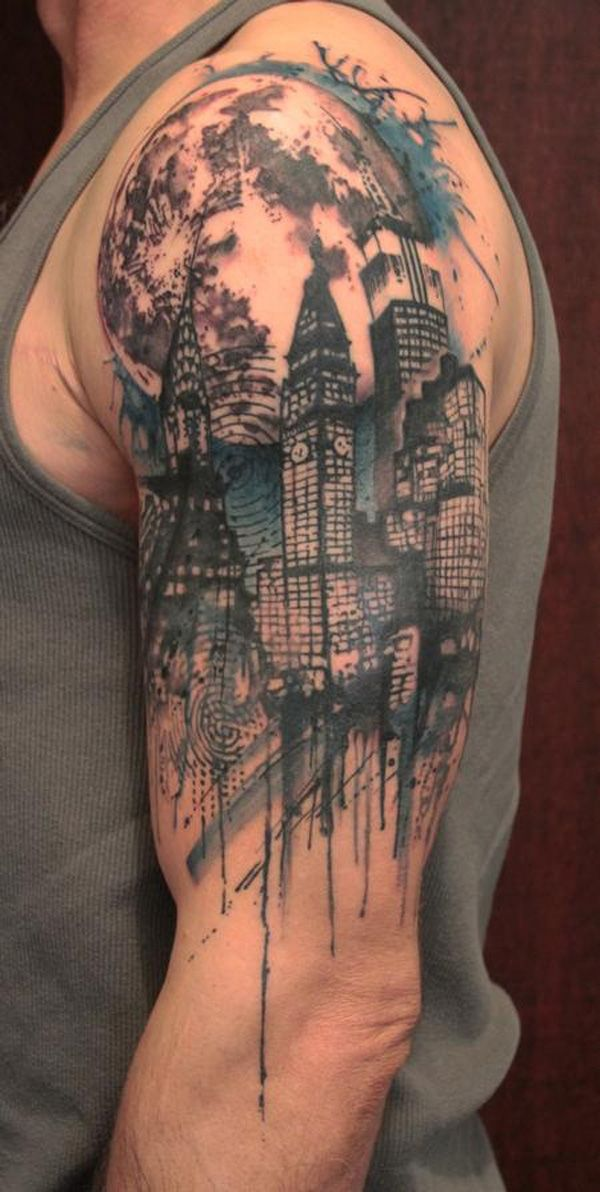 Half sleeve tattoo ideas men 8 for Male sleeve tattoo ideas